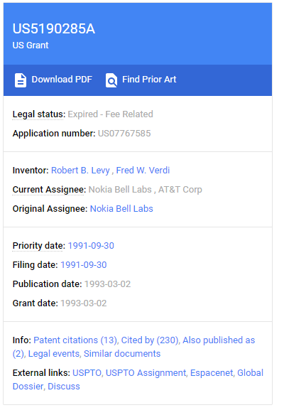 Google Patent Expire - Fee Related for business ideas
