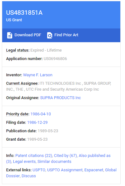 Google Patent Expire -Lifetime for business ideas