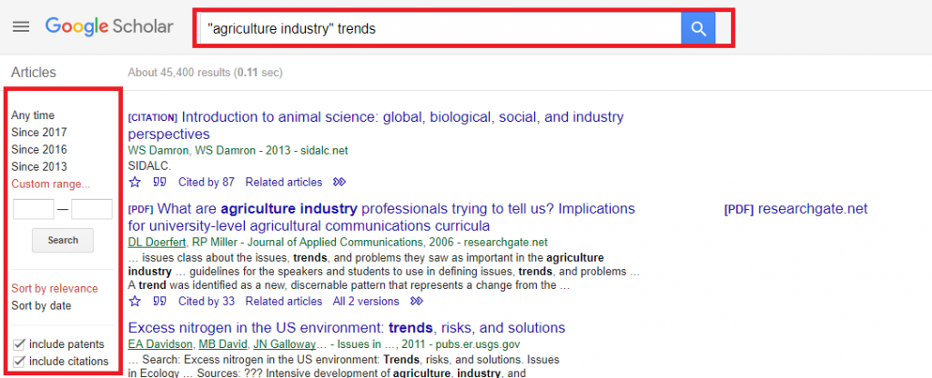 Google Scholar business idea