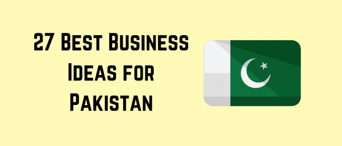 Pakistan flag with title for business ideas